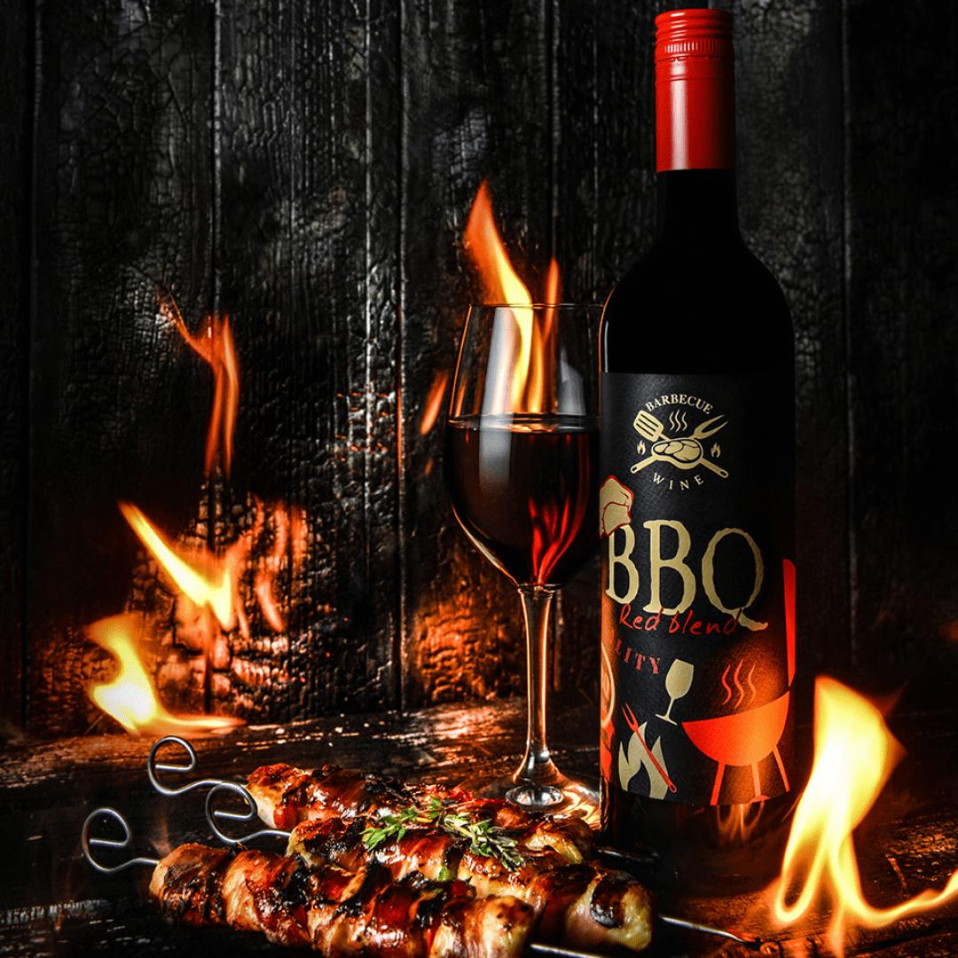 Red BBQ wine